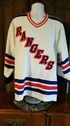 Ny Rangers Large Ccm Away Jersey Good Condition Sewn Letters