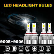 Combo 9005+9006 Total 3000w 450000lm Led Headlight High-low Beam 8000k Ice Blue