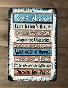 River Wisdom Sign - River Rules - River Life - Outdoor Sign - River Advice