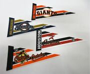Lot Of 4x 1999 Tag Express Baseball Pennants Giants   Astros   Orioles   Brewers