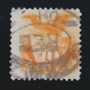 Us 127 1875 10c Re-issue Used Vf W/ Oh Reg Cancel And Pf Cert Scv 1800
