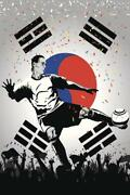 South Korea Soccer National Team Sports Mural Inch Poster 36x54 Inch