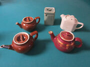 Hall Usa Pottery Tea For Two Teapots 2 Cups Capacity- Pick One
