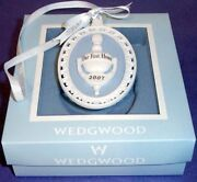 Wedgwood Our First Home Door Knocker Ornament 2007 Jasper Blue And White New