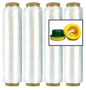 13 X 1968and039 X 26 Ga Pre-stretch Hand Wrap 6.4 Micron With Dispenser 280 Rolls