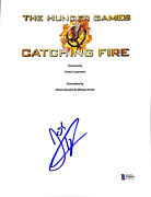 Josh Hutcherson Signed Hunger Games Catching Fire Movie Script Cover Bas F98991