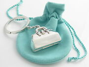 And Co Rare Vintage Silver Doctor's Bag Doctor Bag Pill Box Keychain