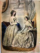 French Conseiller Dames Sewing Pattern Dec 1849 Corsage Montant Diner - Broderie