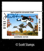 Nh6 Nh6g 1988 New Hampshire Duck - Governors Edition - Signed By John Sununu