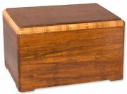 Large/adult 210 Cubic Inch Designer Bamboo Wood Funeral Cremation Urn For Ashes