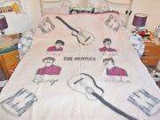 The Beatles Official Witney Wool Blanket 1964 Accectable Condition 60 X 70