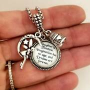 Tinkerbell Peter Pan Disney Quote Charm Bracelet Necklace Jewelry For Girls Wome