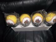 The Beatles Official Baseball Set 4 Yellow Submarine Sealed + Stands Mint