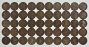 1920 D Lincoln Wheat Cent Penny 1c Vf / Vf+ Very Fine Plus Full Roll 50 Coins