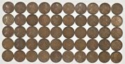 1920 D Lincoln Wheat Cent Penny 1c G - F Good To Fine Full Rolls 50 Coins