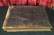 Massive Leather Cover Book Italy Full Of Masterpieces And Monuments