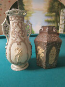 19th Century Villeroy And Boch Parian Vases Pick One - Beige And Brown Vase
