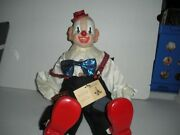 Large 14 X 8 Porcelain Victoria Impex Musical Clown Plays Send In The Clowns