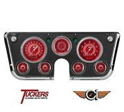 67 68 69 70 71 72 Chevy Truck Gauges V8 Red Steelie Classic Instruments Ct67v8rs