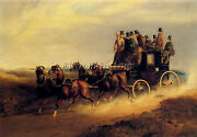 American Hendreson Charles Cooper Bath To London Coach On Open Road Reproduction