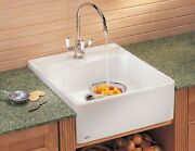 Franke Andbull Villeroy And Boch Fireclay Sink Single Bowl 24 Mhk 710-24 Bt Biscuit New