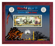 World War Ii Iwo Jima Colorized Coin And Currency Set In 8 X 10 Frame