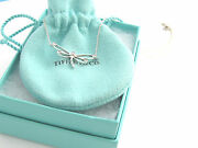 And Co Rare Silver Diamond Dragonfly Necklace Charm