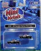 N Scale Classic Metal Works 1967 Ford Highway Patrol Cars Limited Run Item50380