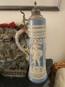 Simon Peter Gerz Beer Stein Mold 866 Lovers 6l 22 1/2 Tall C1880-1900