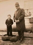 Antique Vintage Boy Toy Push Car Uncle Jess And Roy Vernacular Photography Photo