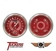 1947-53 Chevy Gmc Pu V8 Red Steelie Gauges Tach Classic Instruments Ct47v8rs62
