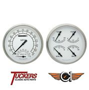 1947-53 Chevy Gmc Truck Classic White Gauges Tach Classic Instruments Ct47cw62