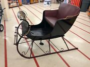 1934 Two Person Horse Drawn Sleigh - Refurbished, New Upholstery/carriage Paint