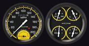 47-53 Chevy Gmc Truck Gauges Tach Classic Instruments Ct47axy62 Autocross Yellow