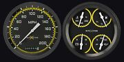 1947-53 Chevy Gmc Truck Gauges Classic Instruments Ct47axy52, Autocross Yellow