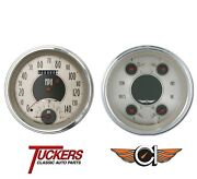 47-53 Chevy Truck All-american Nickel Gauges Tach Classic Instruments Ct47an62
