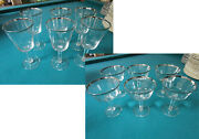 Lenox Crystal Glasses Solitaire Pattern Faceted Stem Water Champagne Pick 1