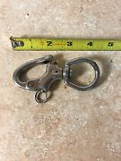 Used Stainless Swivel Snap Shackle Sailboat Boat Ring Pull