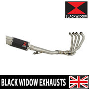 Gsx750 Inazuma Exhaust System And Round Carbon + Stainless Tip Muffler 200cs