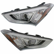 New Set Of 2 Left And Right Side Hid Head Lamp Assembly Fits Hyundai Santa Fe