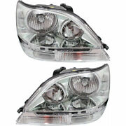 New Set Of 2 Left And Right Side Head Lamp Assembly Hid Fits Lexus Rx300