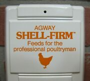 Agway Poultry Poultryman Advertising Thermometer Sign Usa Chicken Rooster Farm