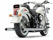 Cobra Chrome True Dual Billet Tip Exhaust System Pipes 1986-2006 Harley Softail