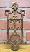 Old Cast Iron Architectural Finial Gold Paint Decorative Arts Hardware Element