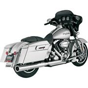 Vance And Hines Hi Output Slip-ons Chr 16455 Exhaust Mufflers / Slip-ons