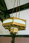 40 Large Hexagonal Chandelier 1915 St. Agathaand039s Church Salvage Pa