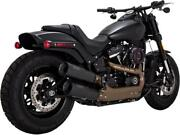 Vance And Hines Hi-output Slip-ons Blk 46547 Exhaust Mufflers / Slip-ons