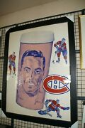 Rare Jean Beliveau Store Display From Steinberg's Grocery Stores 40 X 53