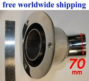 Stainless Steel Thru Hull Outlet / Exhaust Fitting 70 Mm To Webasto Eberspacher