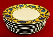 Mottahedeh Reproduction Ming Dynasty Imperial Yellow And Blue Plates
